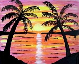 Warm Days Acrylic Painting on Canvas Art Kit