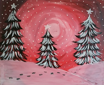 Winter Wonderland Acrylic Painting on Canvas Art Kit