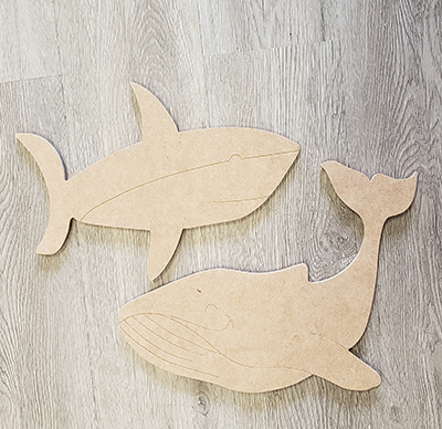 Shark and Whale Art Board DIY Paint Kit