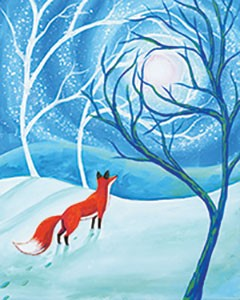Fox in the Forest Acrylic Painting on Canvas Art Kit