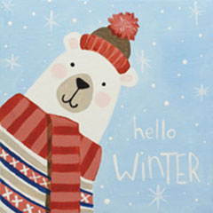 Hello Winter - Social Artworking Design