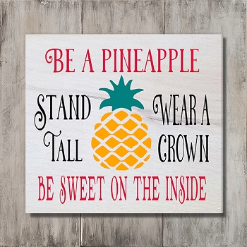 Classic:  Be a Pineapple... 12 x 12