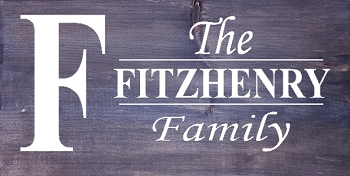 Classic:  Personalized:  Family Name Fitzhenry Style Horizontal