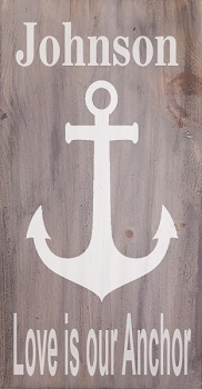 Personalized:  Family Name Love is our Anchor
