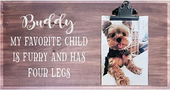 Personalized:  My Favorite Kid is Furry and has Four Legs