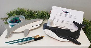 Shark and Whale Art Board Kit - With Container of Bonus Slime