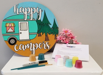 Happy Camper Art Board Kit - Etched and Ready to Paint