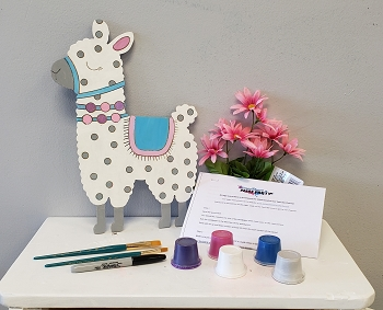 Llama Art Board Kit - Etched and Ready to Paint