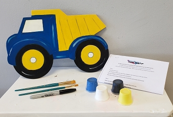 Dump Truck Art Board Kit - Etched and Ready to Paint