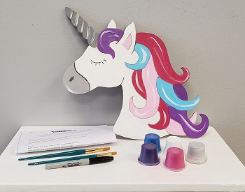 Unicorn Art Board Kit - Etched and Ready to Paint