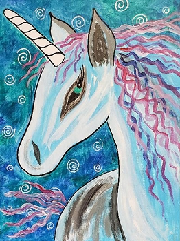 Fantasy Unicorn Acrylic Painting on Canvas Art Kit