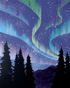 Northern Lights Acrylic Painting on Canvas Art Kit