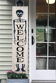 Porch:  Welcome Skeleton 48