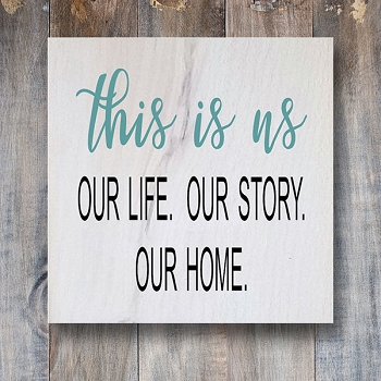 Classic:  This is Us - Our Life Our Story Our Home 12 x 12