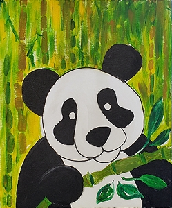 Panda Posing Acrylic Painting on Canvas Art Kit