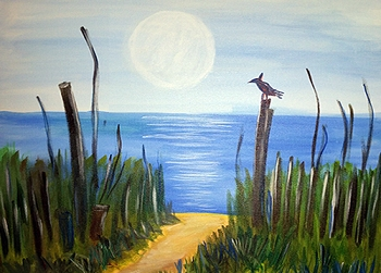 Beach Path Acrylic Painting on Canvas Art Kit