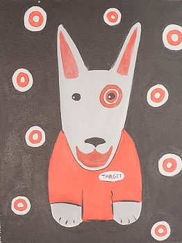 Target Dog  Acrylic Painting on Canvas Art Kit
