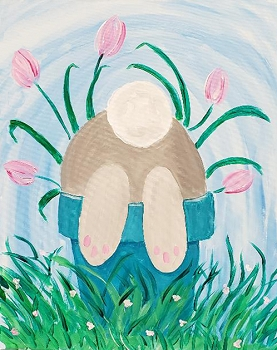 Bunny Stuff Acrylic Painting on Canvas Art Kit