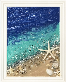 Colorful Ocean Epoxy Resin Sea Collage