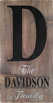 Classic:  Personalized:  Family Initial Davidson Style Vertical