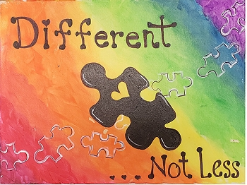 Different not Less Acrylic Painting on Canvas Art Kit