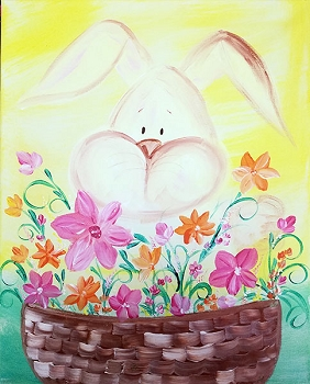 Easter Basket Acrylic Painting on Canvas Art Kit