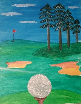 On the Green Acrylic Painting on Canvas Art Kit