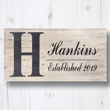 Personalized:  Family Name with Established Year Gift Sign