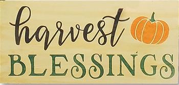 Classic:  Harvest Blessings 18 x 10