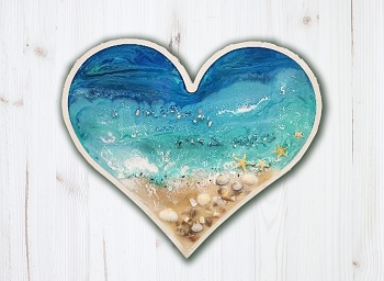 Epoxy Resin Ocean Heart
