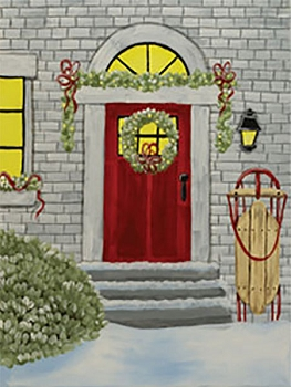 Home for the Holidays Acrylic Painting on Canvas Art Kit