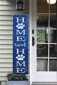 Porch:  Home Sweet Home -Dog Paws Porch Sign