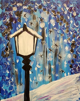 Lamp Light Acrylic Painting on Canvas Art Kit