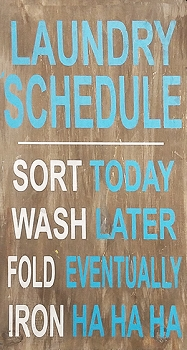 Classic:  Laundry Schedule