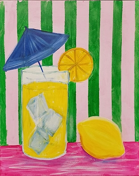 Lemonade Anyone Acrylic Painting on Canvas Art Kit