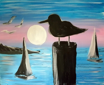 Life on the Bay Acrylic Painting on Canvas Art Kit