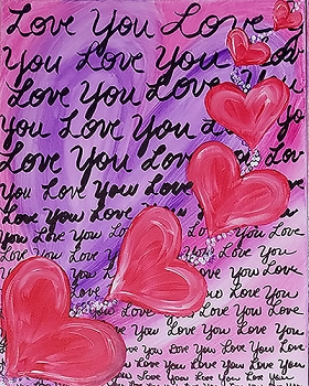 Love Notes Acrylic Painting on Canvas Art Kit