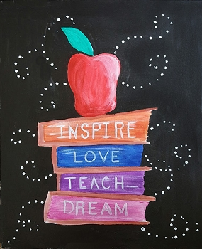 Love Teaching Acrylic Painting on Canvas Art Kit