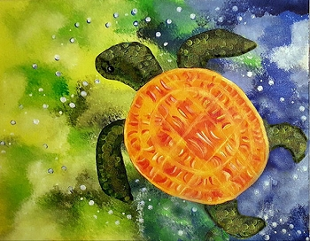 Love Turtles Acrylic Painting on Canvas Art Kit
