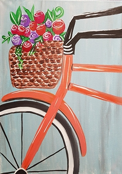 Maggie's Bicycle Acrylic Painting on Canvas Art Kit