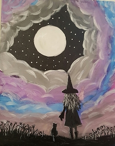Moon Spell Acrylic Painting on Canvas Art Kit