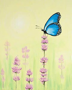 Butterfly Serenity - Acrylic Painting on Canvas Art Kit