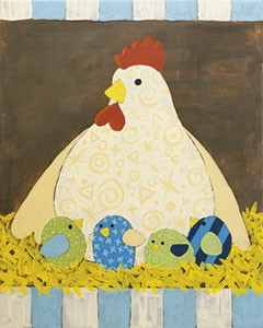 Mother Hen Acrylic Painting on Canvas Art Kit