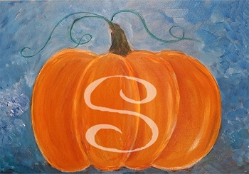 My Pumpkin Acrylic Painting on Canvas Art Kit