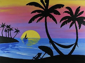 Paradise Found Acrylic Painting on Canvas Art Kit