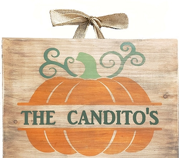 Classic:  Personalized: Family Name Pumpkin 12 x 16