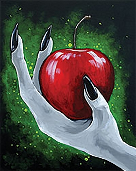 Poison Apple Acrylic Painting on Canvas Art Kit