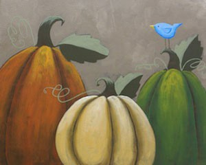 Rustic Pumpkins Acrylic Painting on Canvas Art Kit
