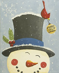 Spreading Cheer Acrylic Painting on Canvas Art Kit