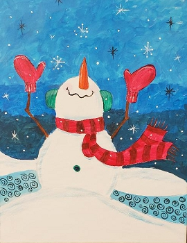 Let it Snow Acrylic Painting on Canvas Art Kit